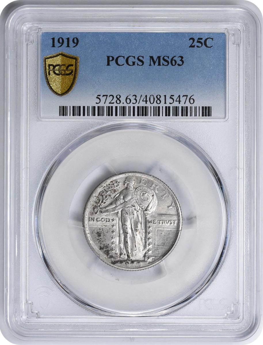 1919 Standing Liberty Silver Quarter MS63 PCGS