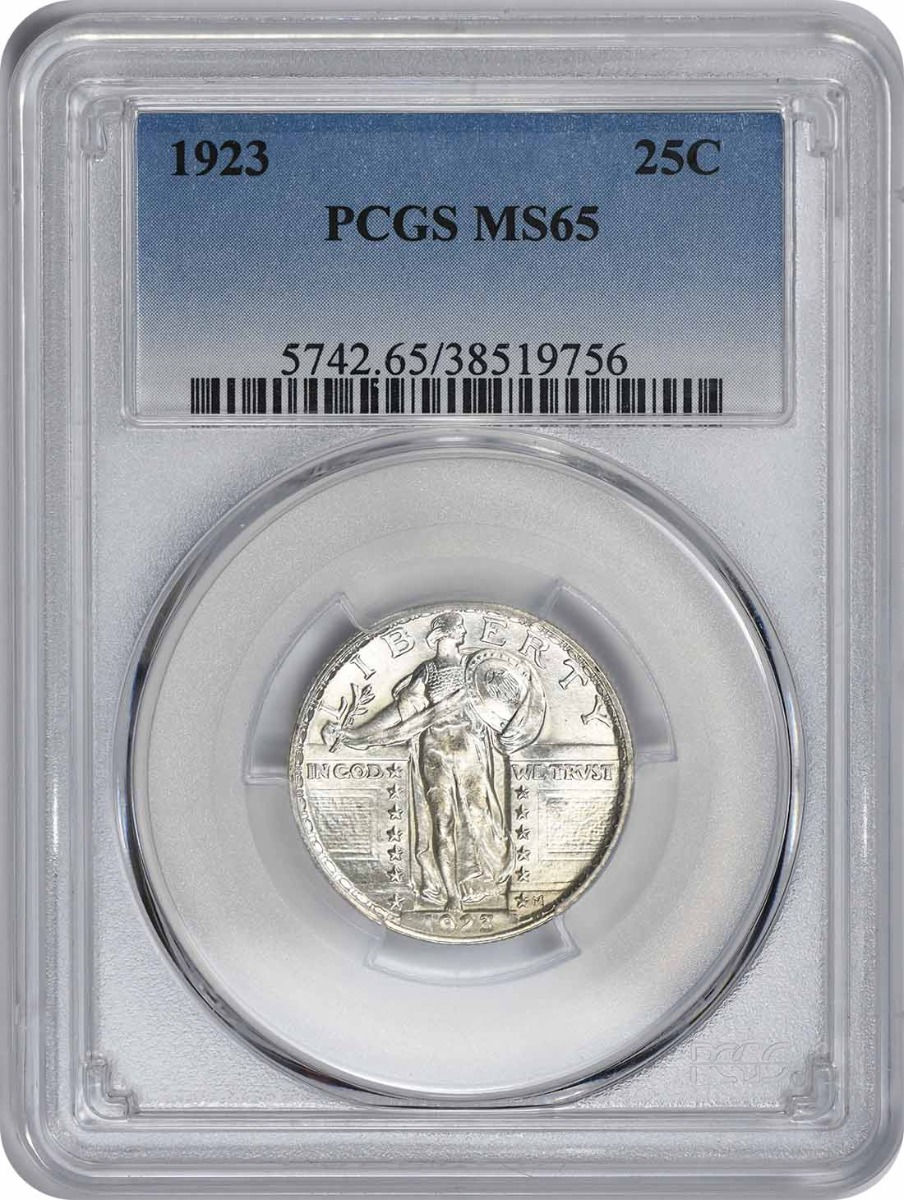 1923 Standing Liberty Quarter MS65 PCGS