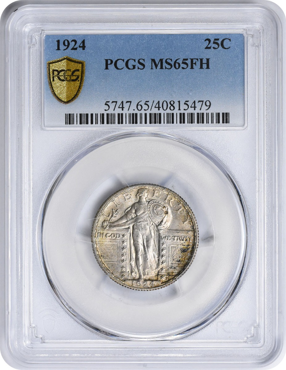 1924 Standing Liberty Silver Quarter MS65FH PCGS