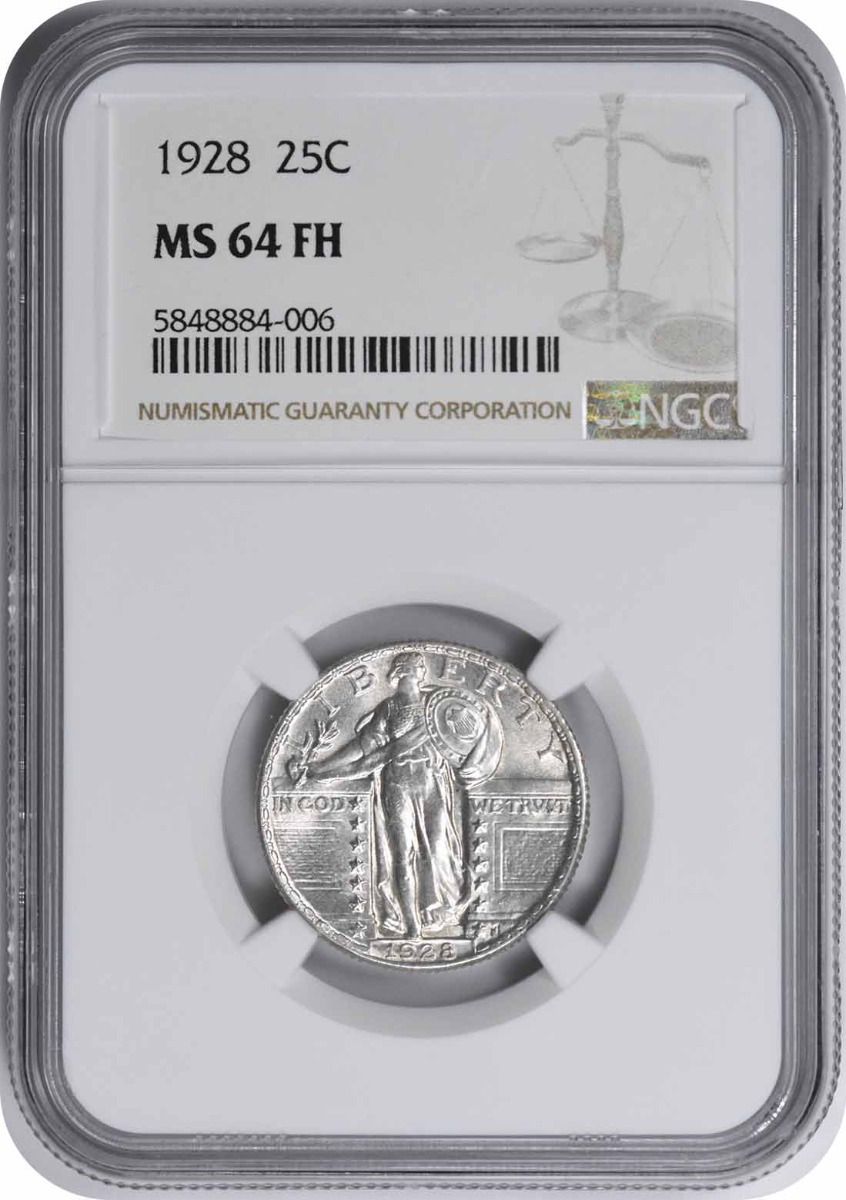 1928 Standing Liberty Silver Quarter MS64FH NGC