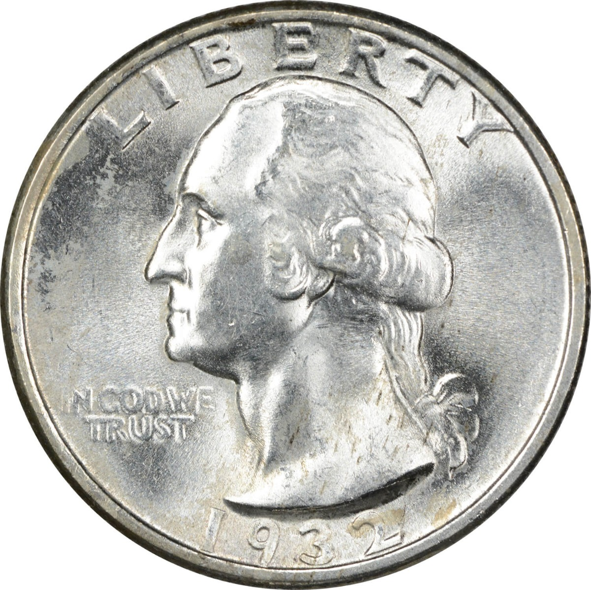 1932 Washington Silver Quarter, MS64, Uncertified