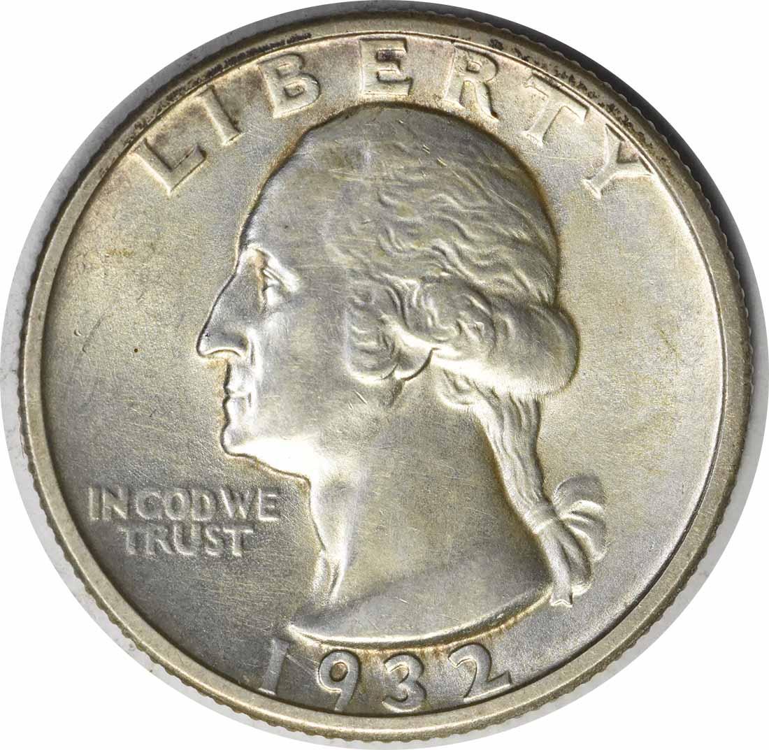 1932-D Washington Silver Quarter AU58 Uncertified #1037