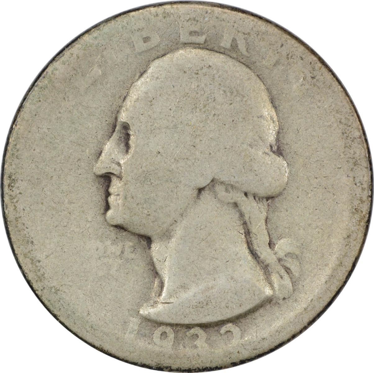 1932-D Washington Silver Quarter AG Uncertified