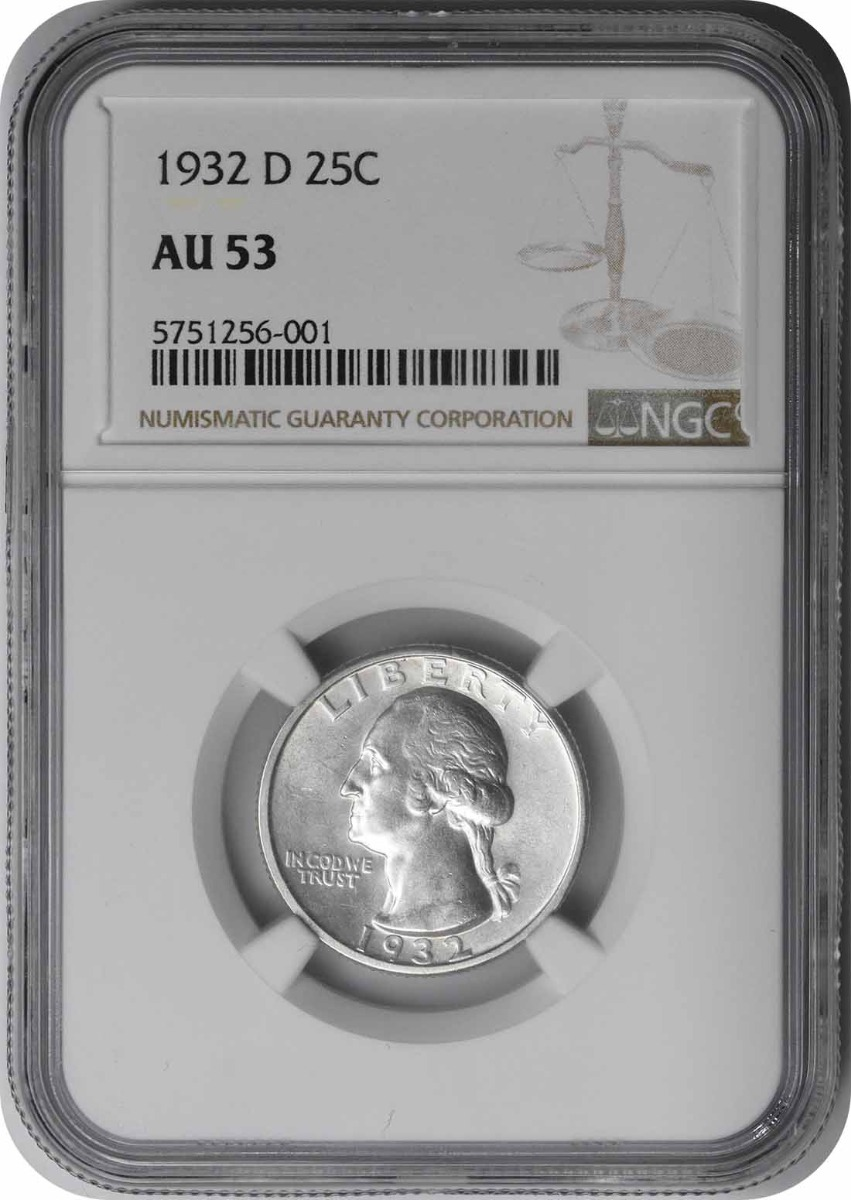 1932-D Washington Silver Quarter AU53 NGC