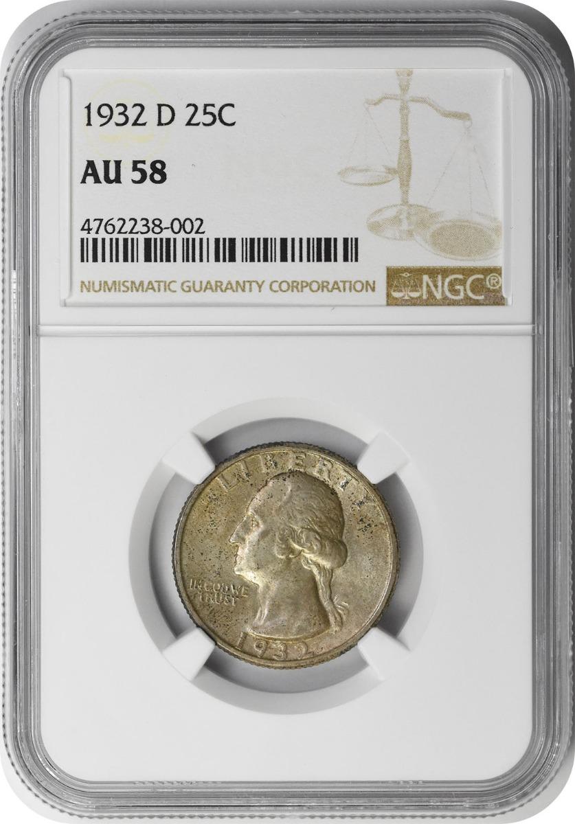 1932-D Washington Silver Quarter AU58 NGC