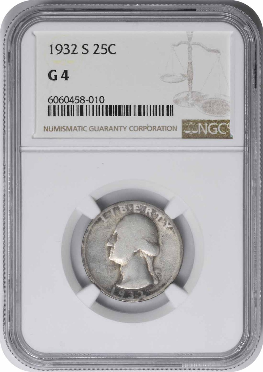 1932-S Washington Silver Quarter G04 NGC