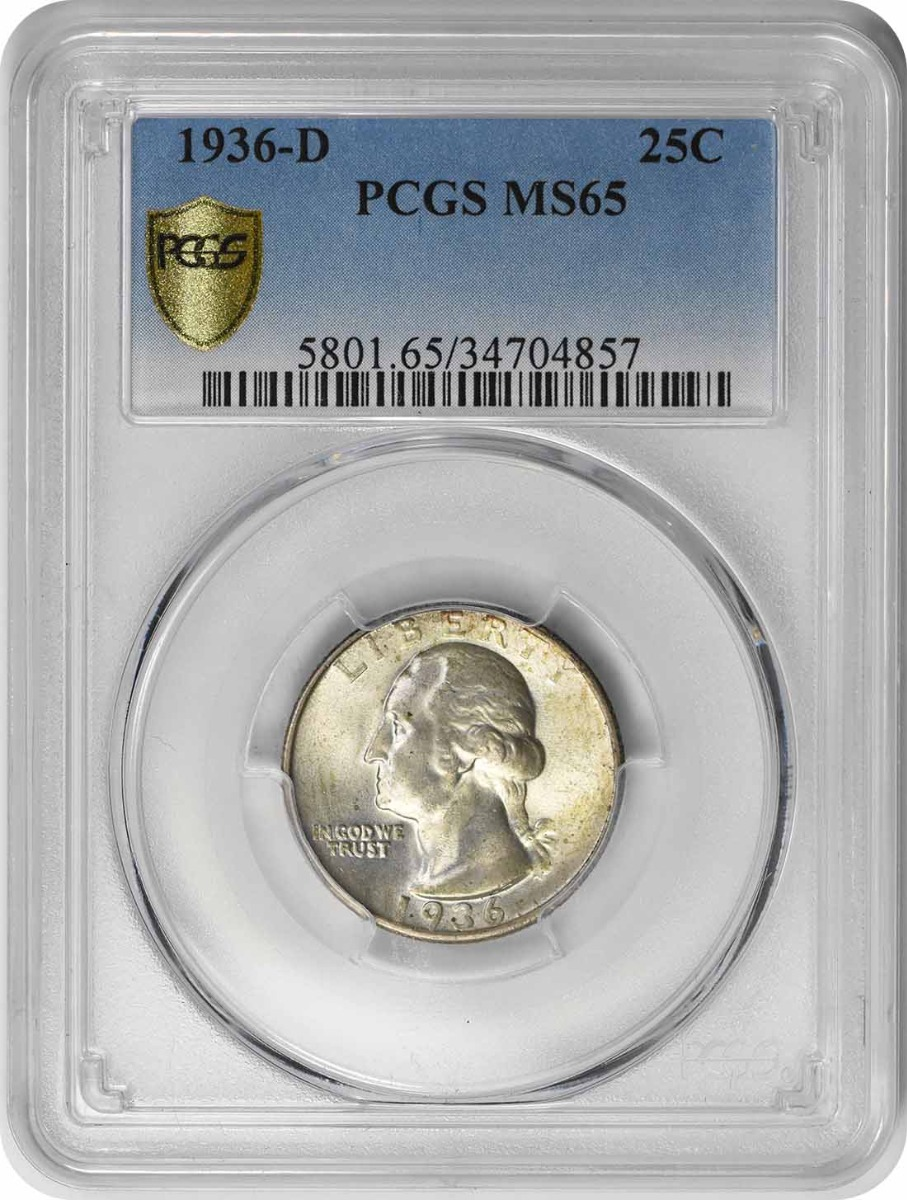 1936-D Washington Quarter MS65 PCGS