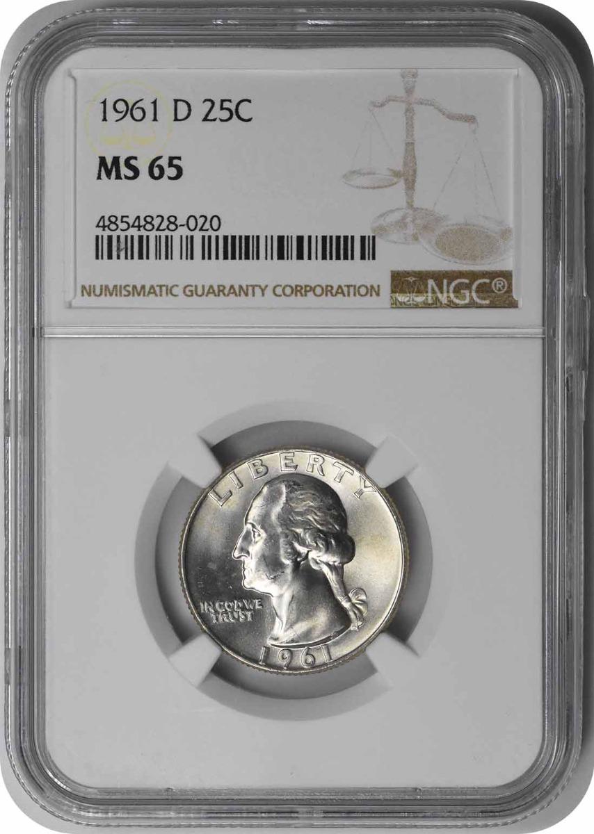 1961-D Washington Silver Quarter MS65 NGC