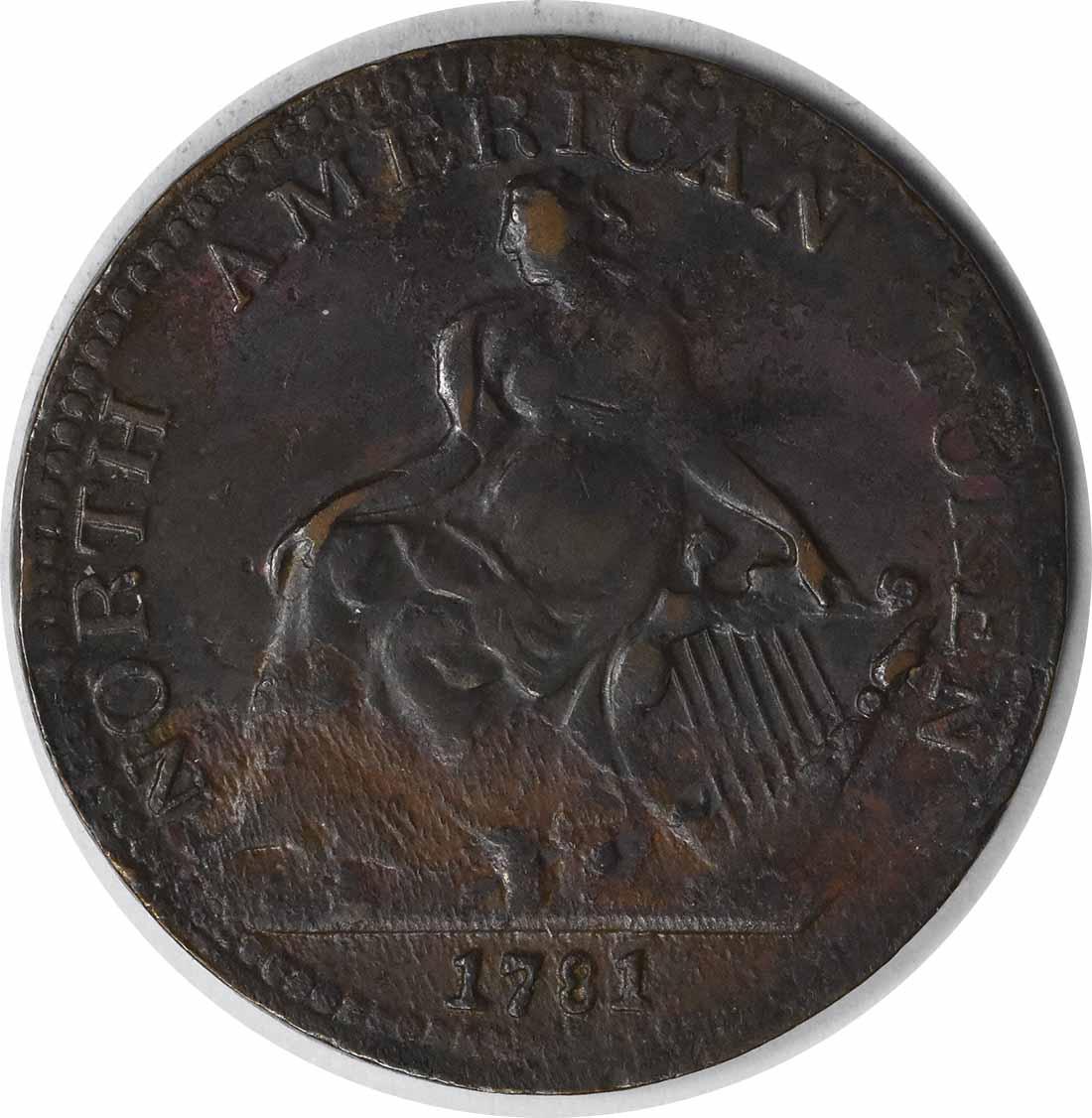 1781 North American Token EF Copper Uncertified