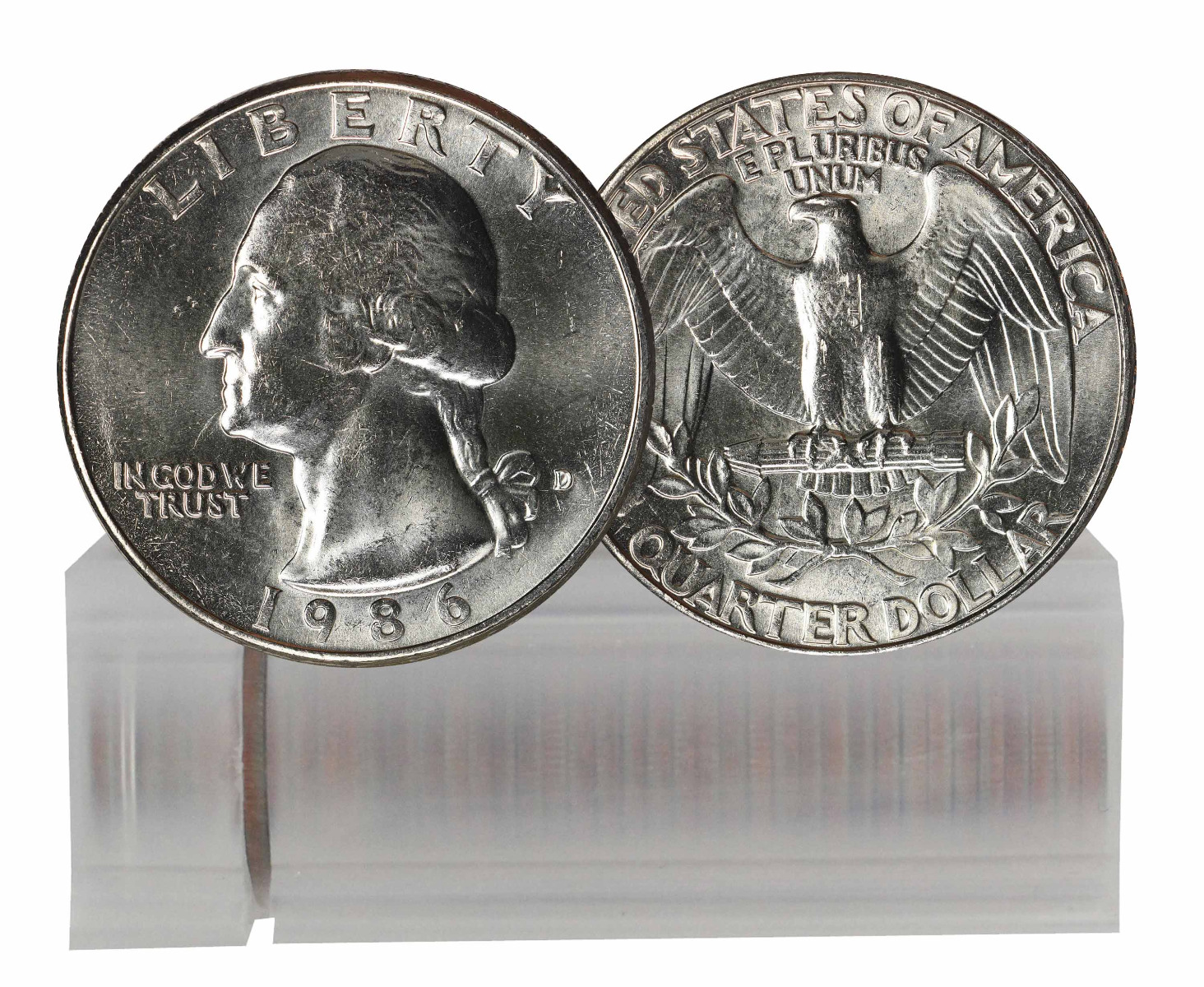 1986-D BU Washington Quarter 40-Coin Roll