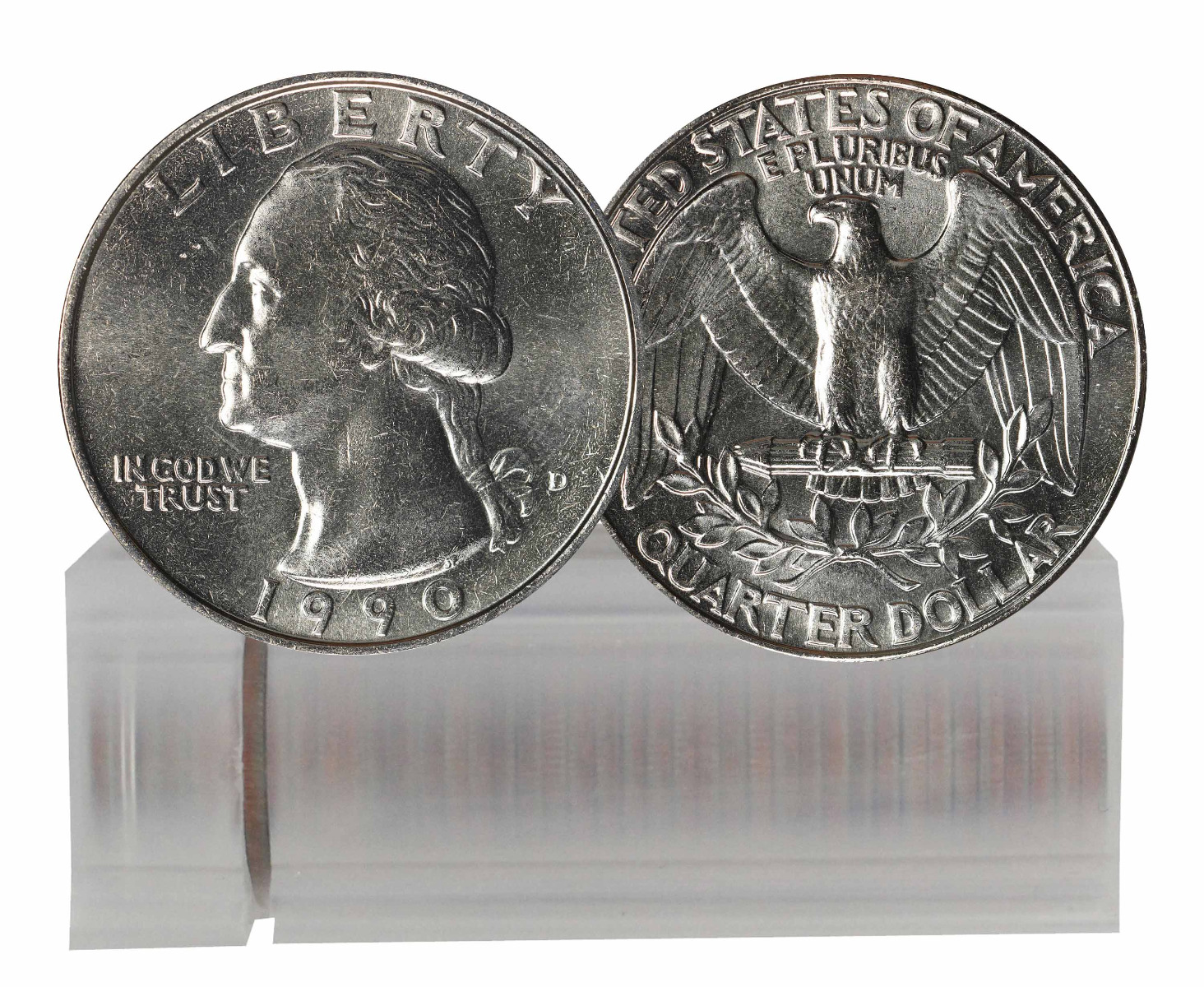 1990-D BU Washington Quarter 40-Coin Roll