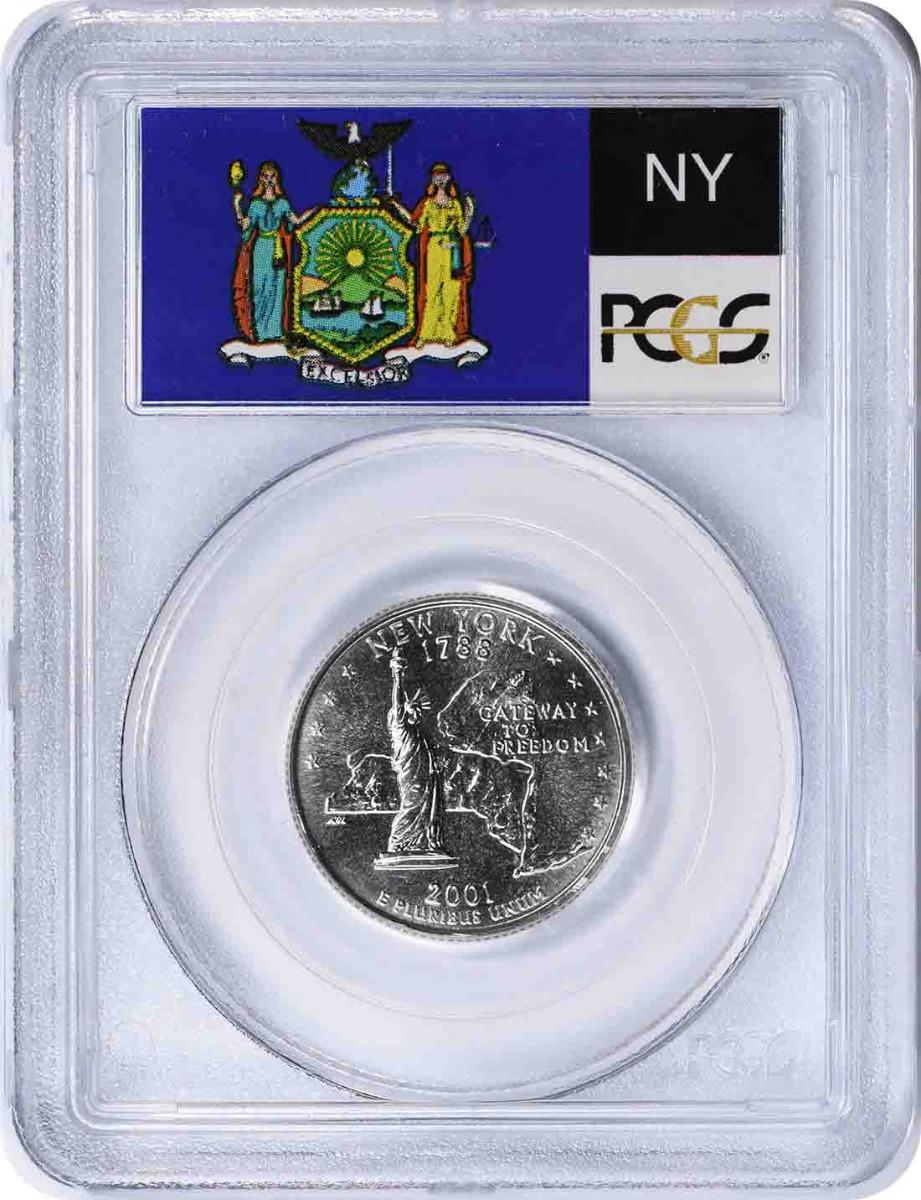 2001-P New York State Quarter MS67 PCGS