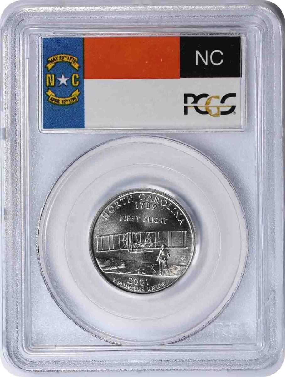 2001-P North Carolina State Quarter MS67 PCGS
