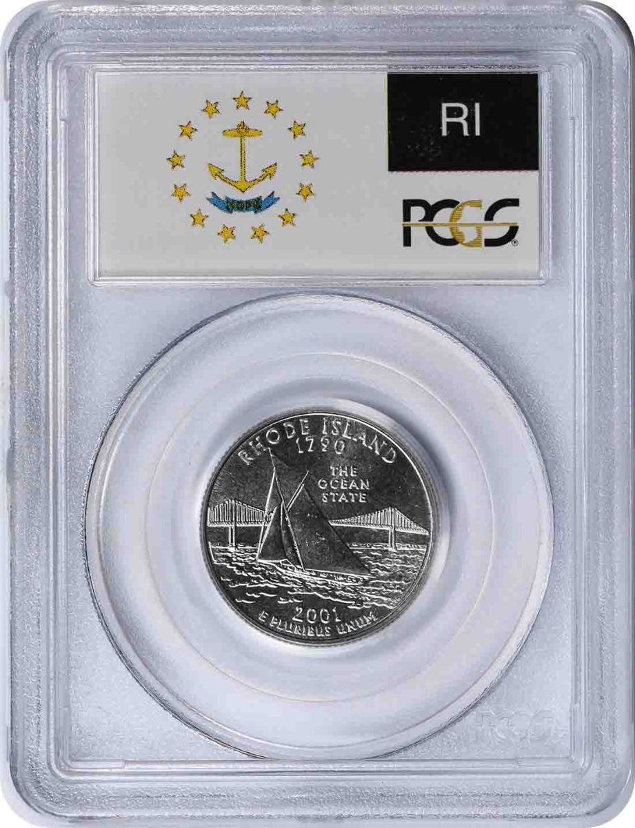 2001-P Rhode State Quarter MS67 PCGS