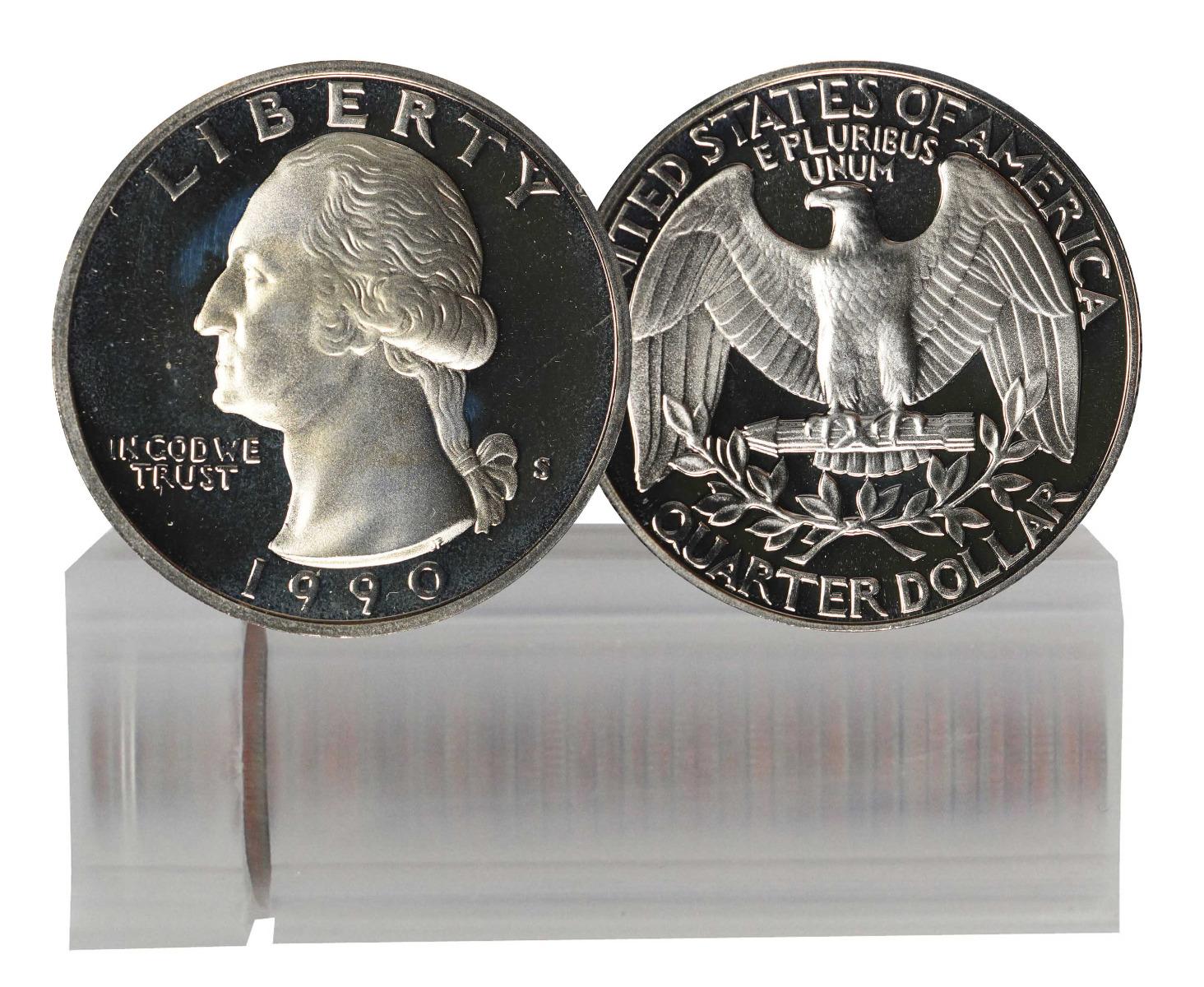 1990-S Proof Washington Quarter 40-Coin Roll