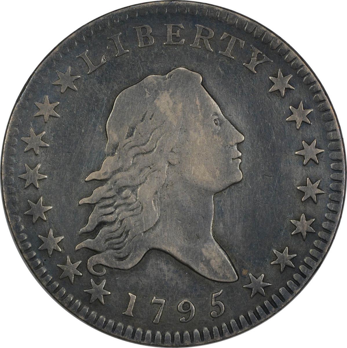1795 Bust Half Dollar, 2 Leaves, VF, Uncertified