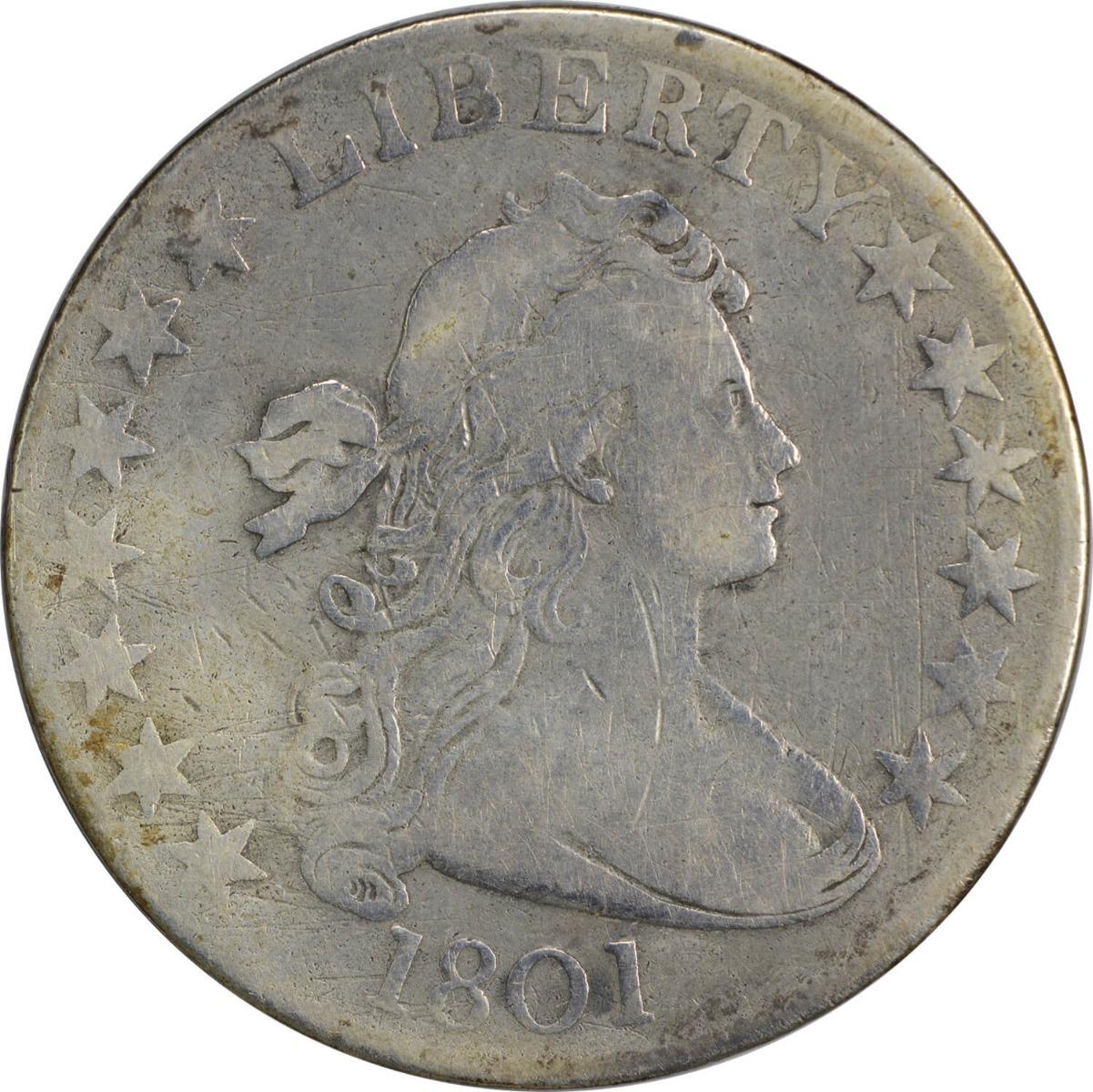 1801 Bust Half Dollar, VF, Uncertified