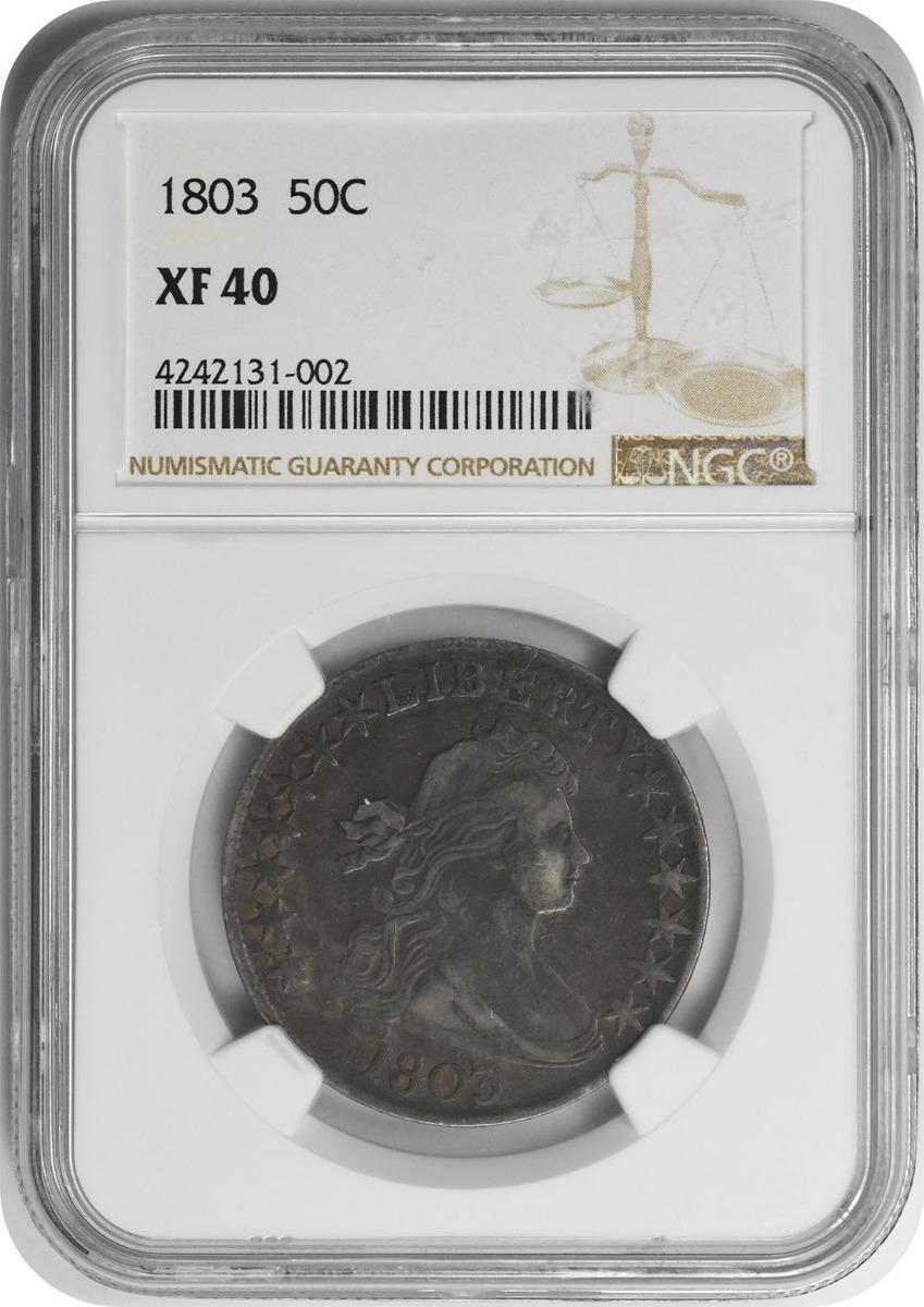 1803 Bust Half Dollar Large 3 EF40 NGC