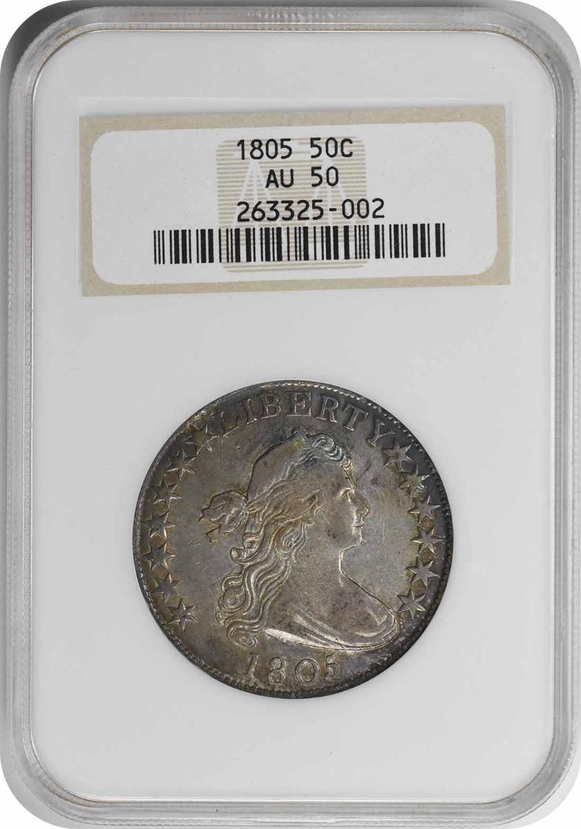 1805 Bust Silver Half Dollar AU50 NGC