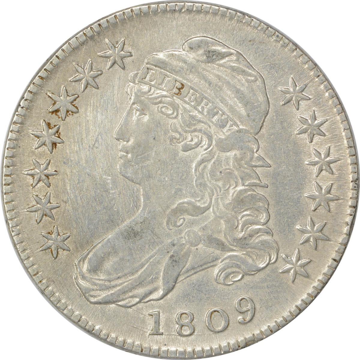 1809 Bust Half Dollar, EF, Uncertified