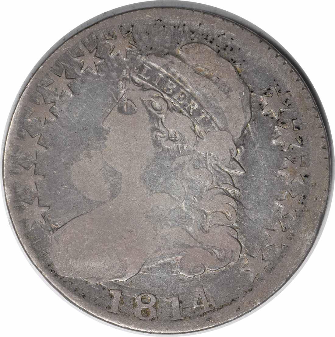 1814/3 Bust Half Dollar E/A O-108 VG Uncertified