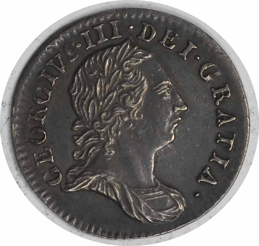1763 Great Britain Maundy 3 Pence KM591 AU+ Uncertified