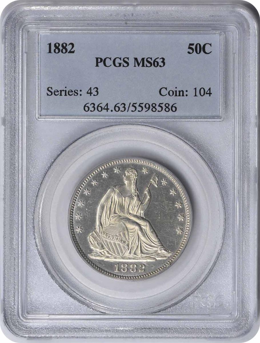 1882 Liberty Seated Silver Half Dollar MS63 PCGS