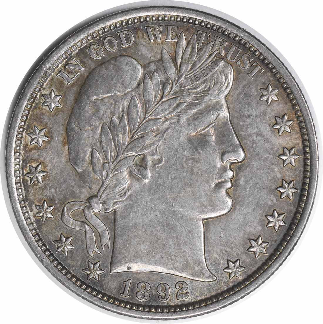 1892 Barber Silver Half Dollar AU58 Uncertified #1106