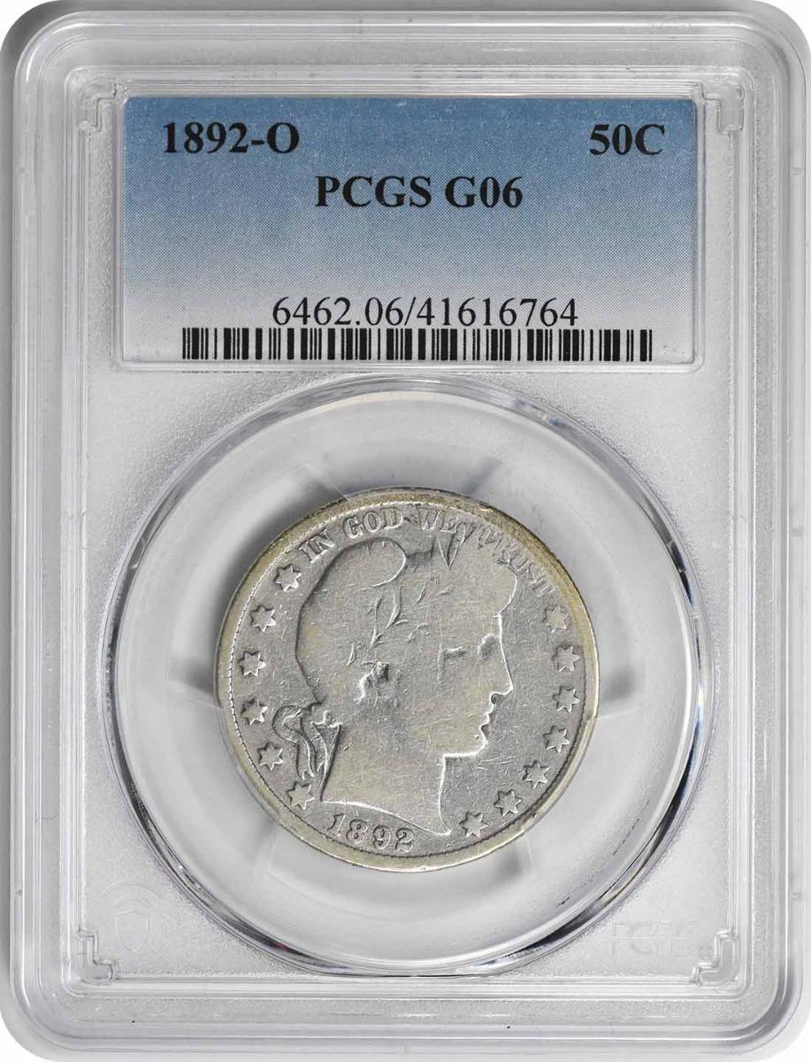 1892-O Barber Silver Half Dollar G06 PCGS