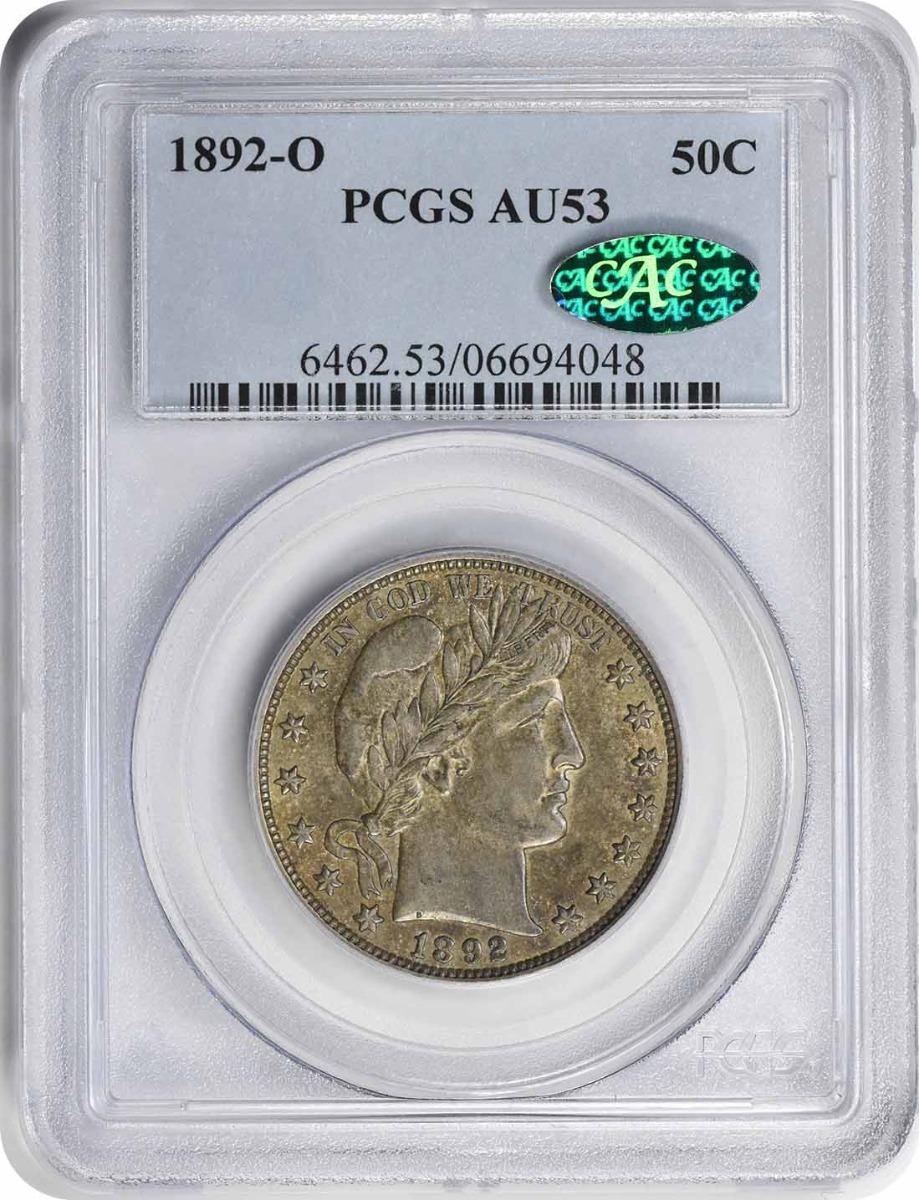 1892-O Barber Silver Half Dollar AU53 PCGS (CAC)