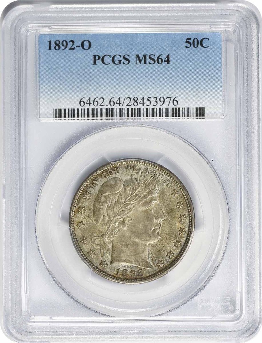 1892-O Barber Silver Half Dollar MS64 PCGS