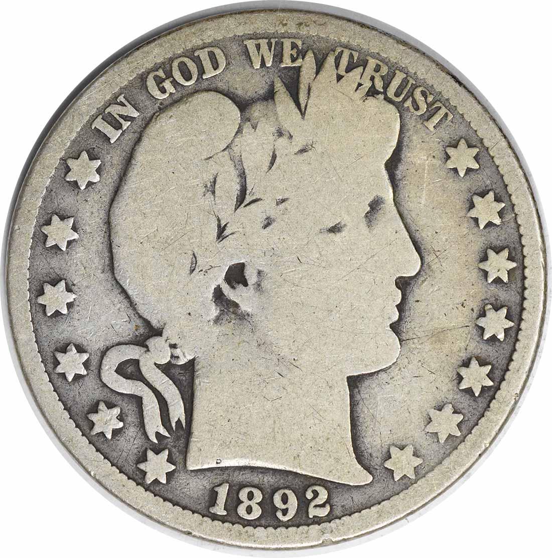 1892-O Barber Silver Half Dollar G Uncertified #1049