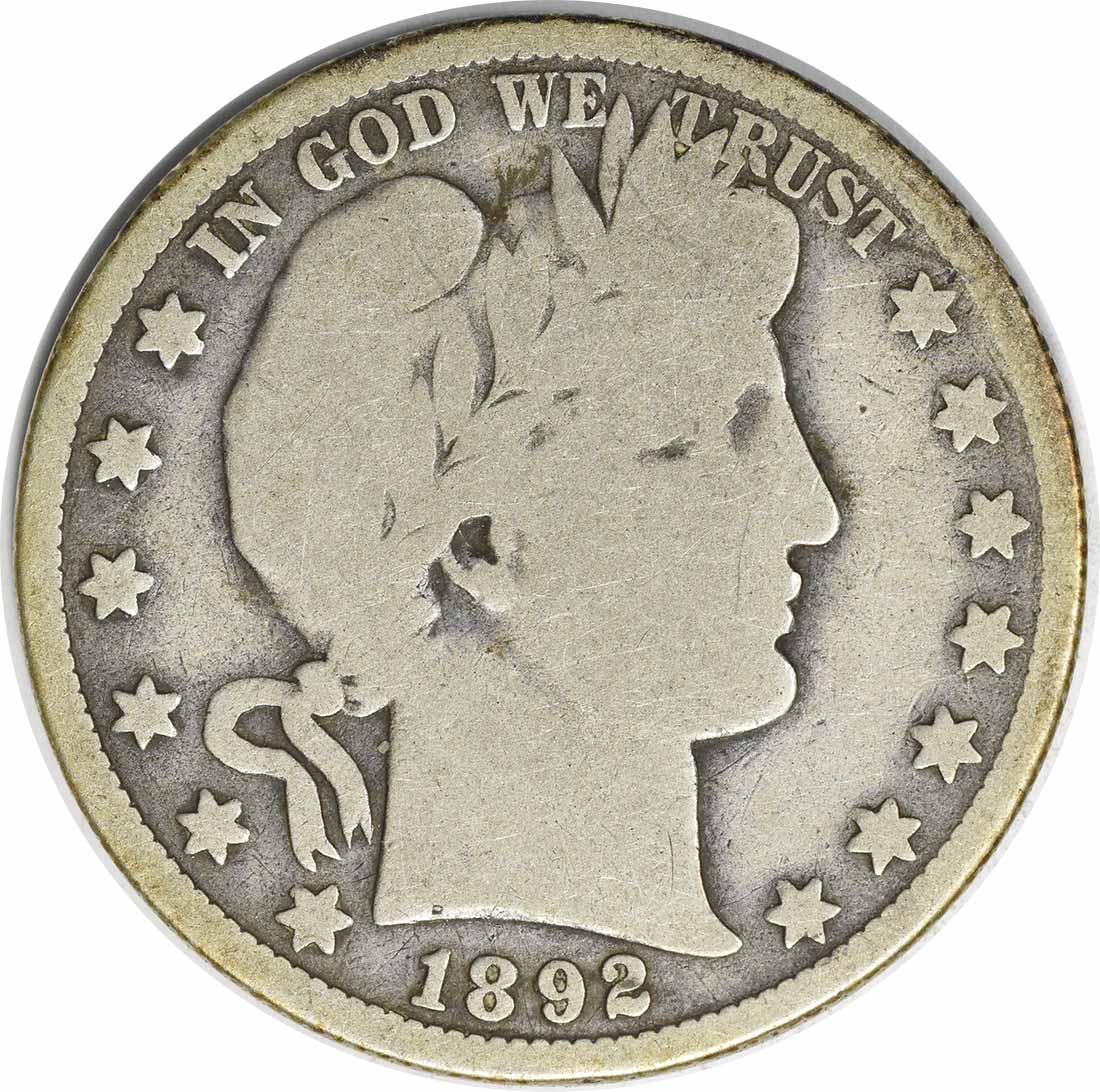 1892-O Barber Silver Half Dollar G Uncertified #1050