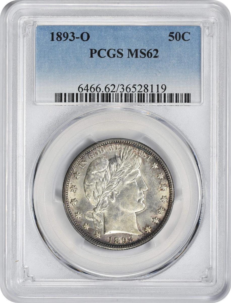 1893-O Barber Silver Half Dollar, MS62, PCGS
