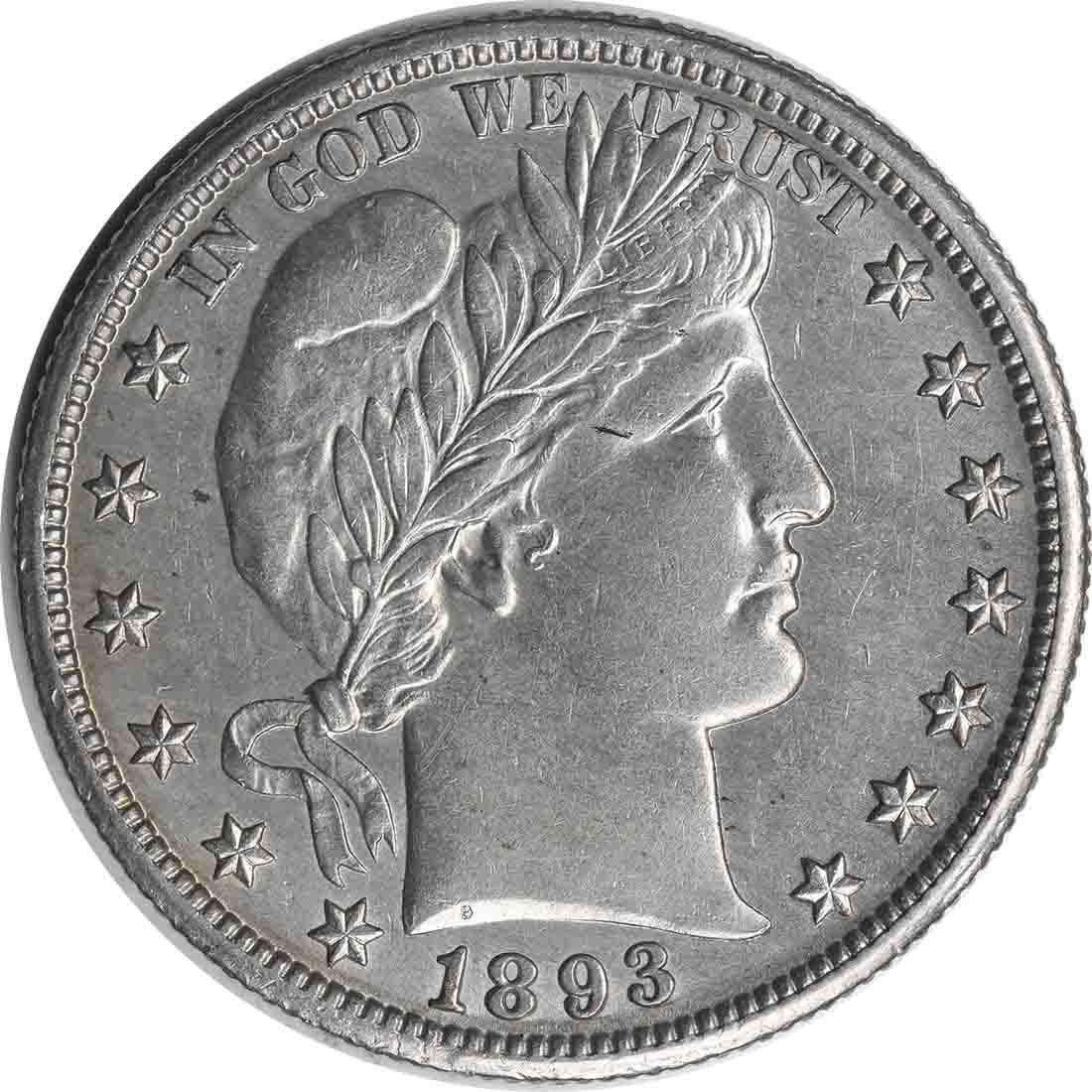 1893-O Barber Silver Half Dollar Choice AU Uncertified