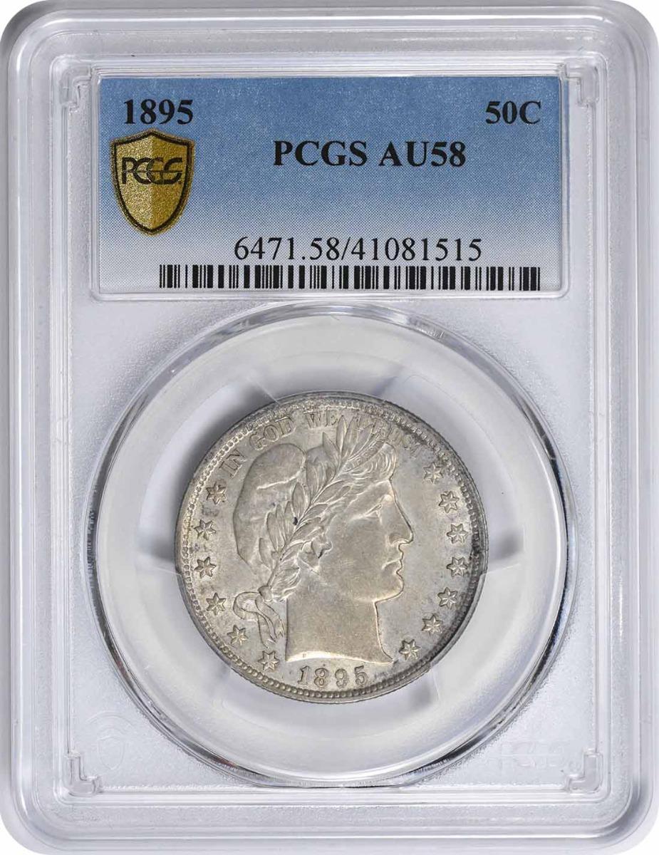 1895 Barber Silver Half Dollar AU58 PCGS