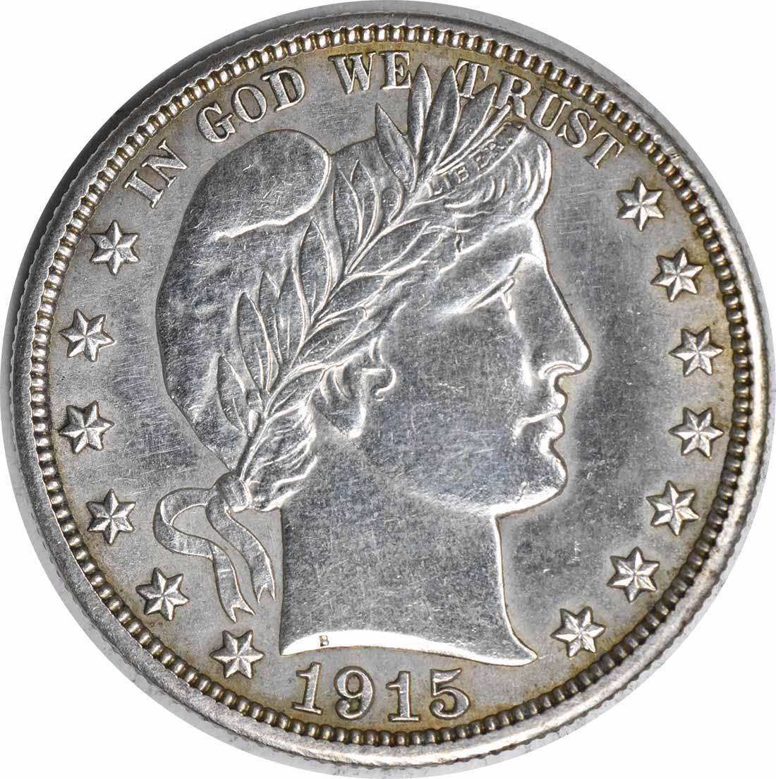 1915-S Barber Silver Half Dollar AU Uncertified #949