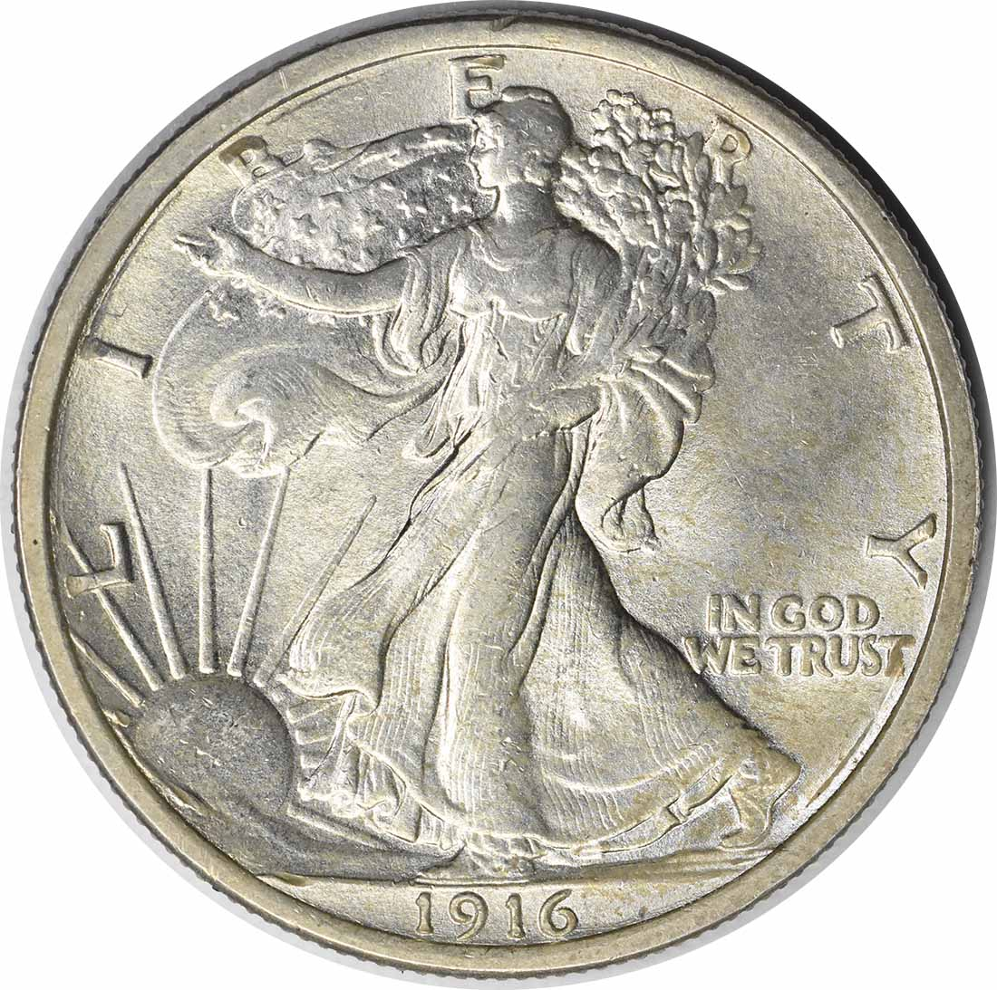 1916 Walking Liberty Silver Half Dollar MS63 Uncertified #1130