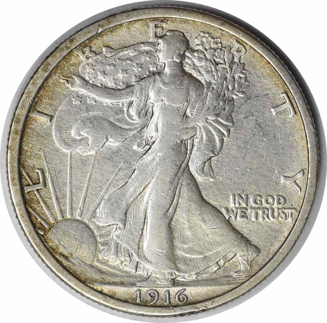 1916 Walking Liberty Silver Half Dollar AU Uncertified #111