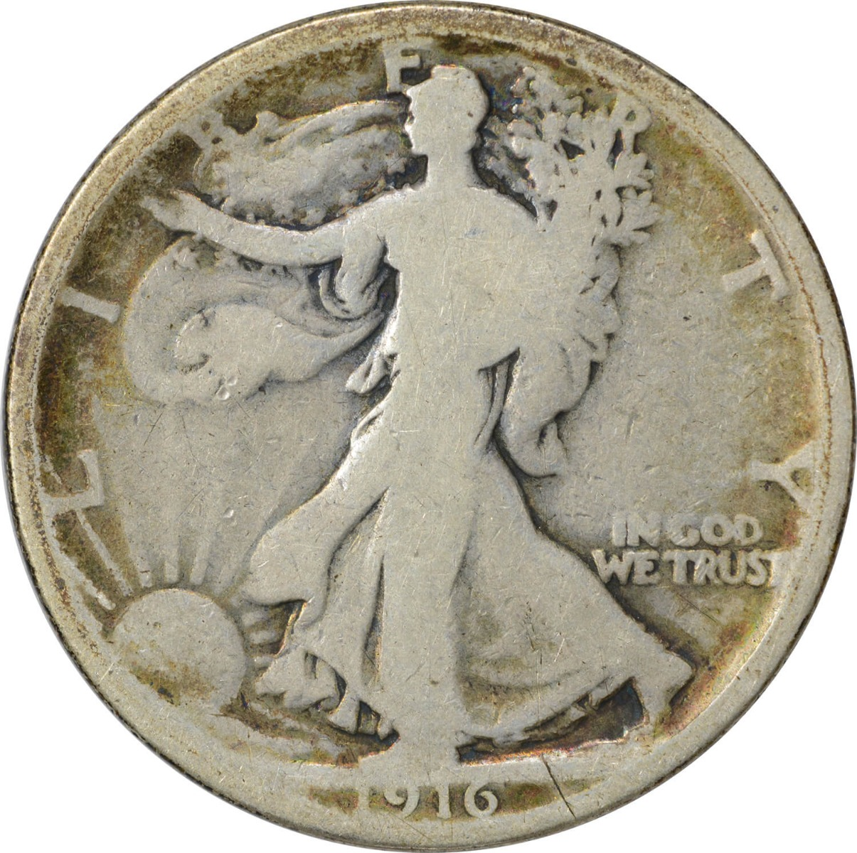 1916 Walking Liberty Silver Half Dollar G Uncertified