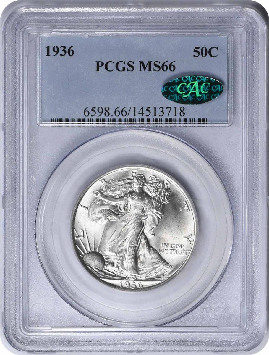 1936 Walking Liberty Silver Half Dollar MS66 PCGS (CAC)