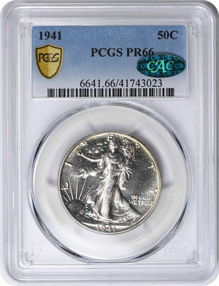 1941 Walking Liberty Silver Half Dollar PR66 PCGS (CAC)