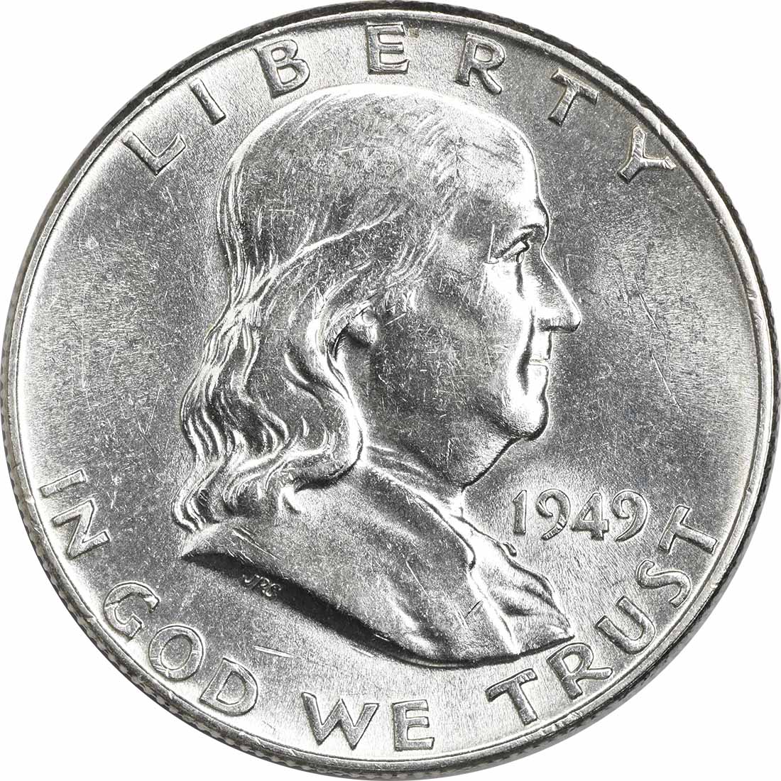 1949 Franklin Silver Half Dollar AU58 Uncertified