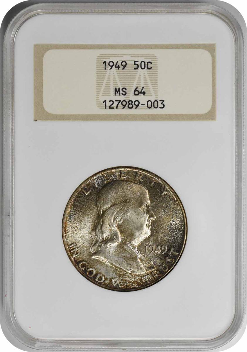 1949 Franklin Silver Half Dollar MS64 NGC