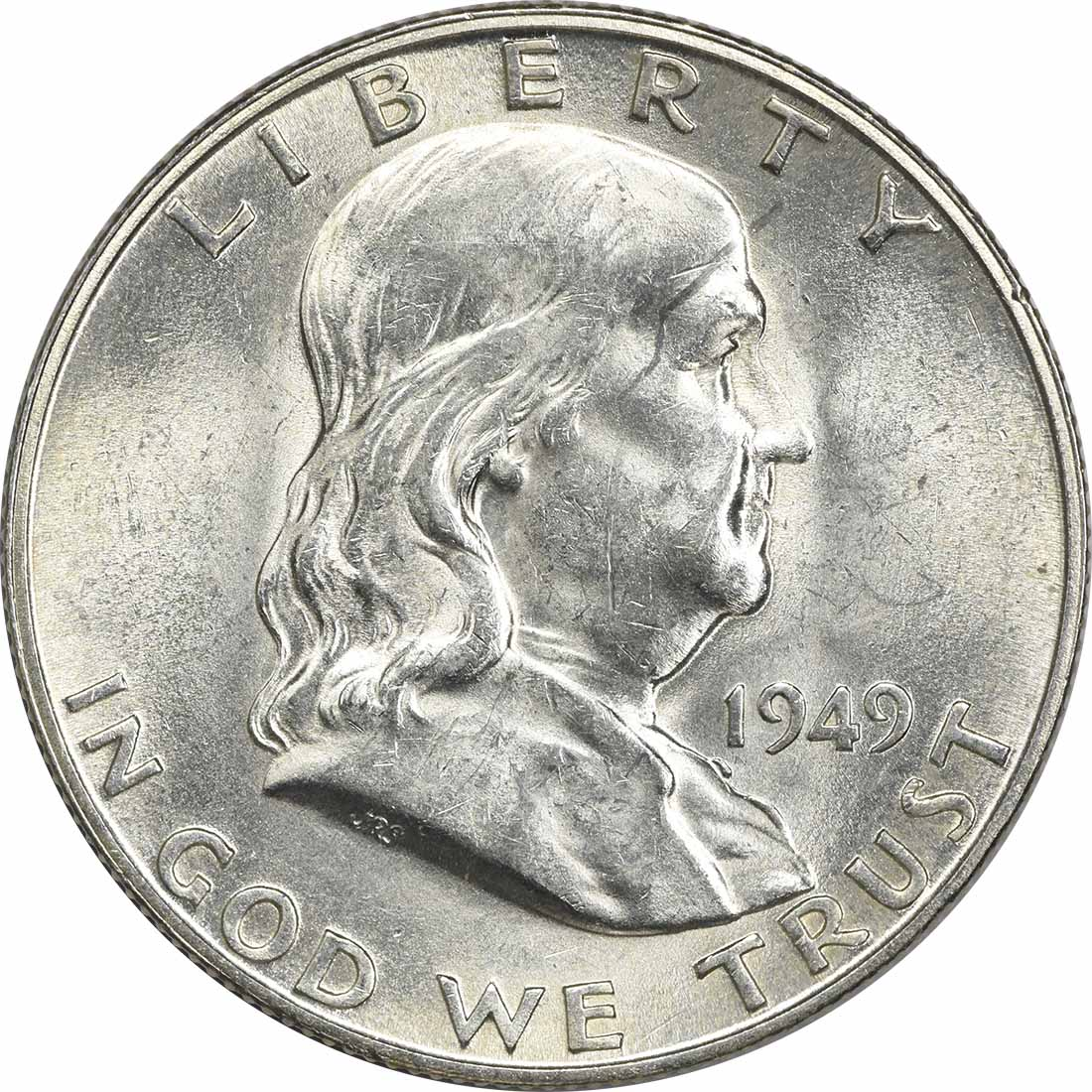 1949-D Franklin Silver Half Dollar MS60 Uncertified