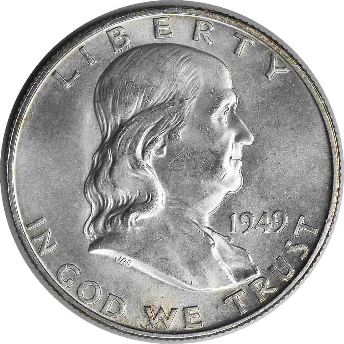 1949-D Franklin Silver Half Dollar MS64 Uncertified