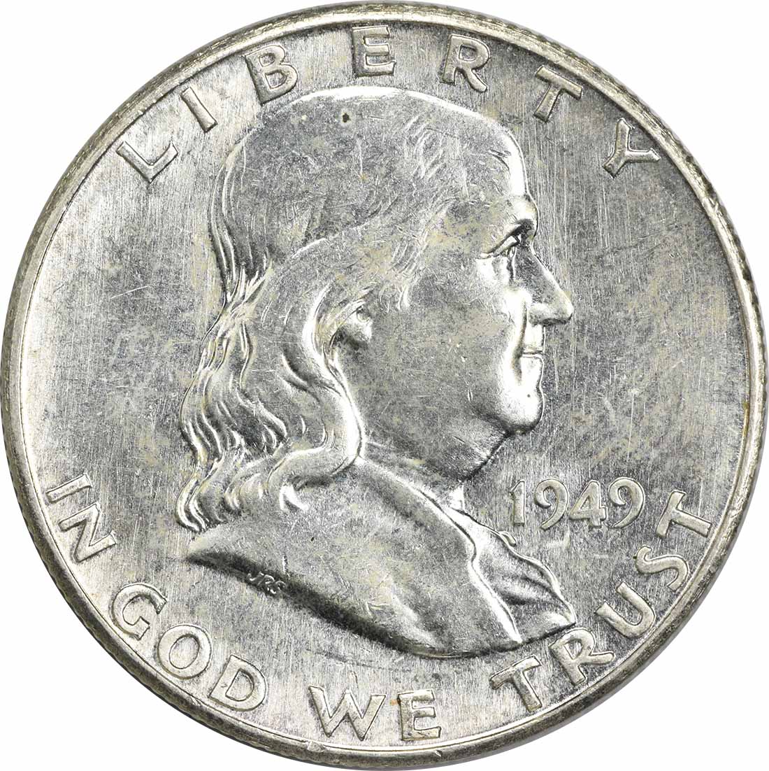 1949-S Franklin Silver Half Dollar MS60 Uncertified