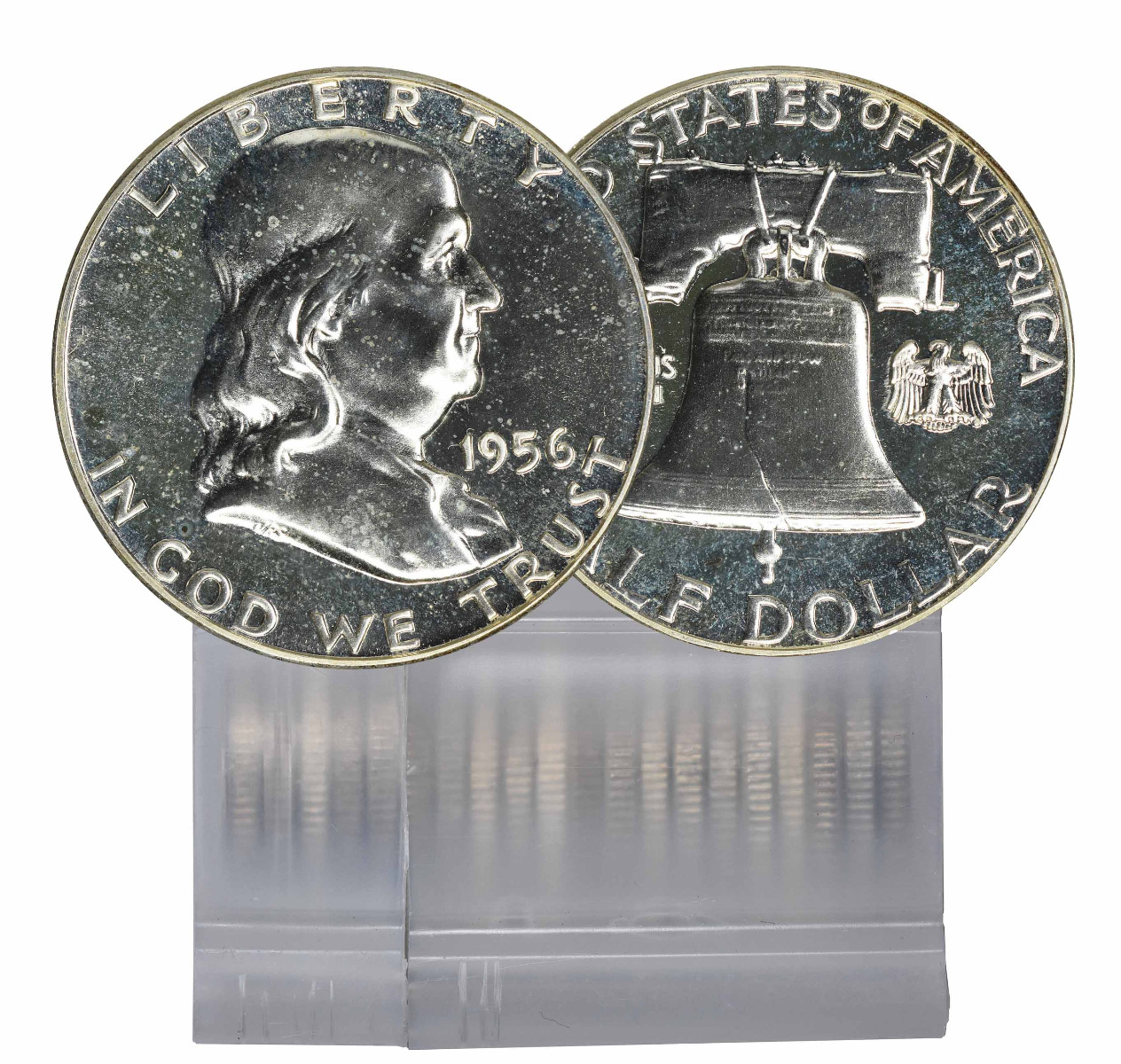 1956 Proof Franklin Half Dollar 20 Coin Roll