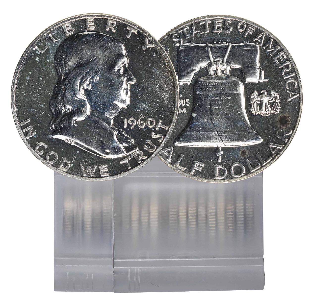 1960 Proof Franklin Half Dollar 20 Coin Roll