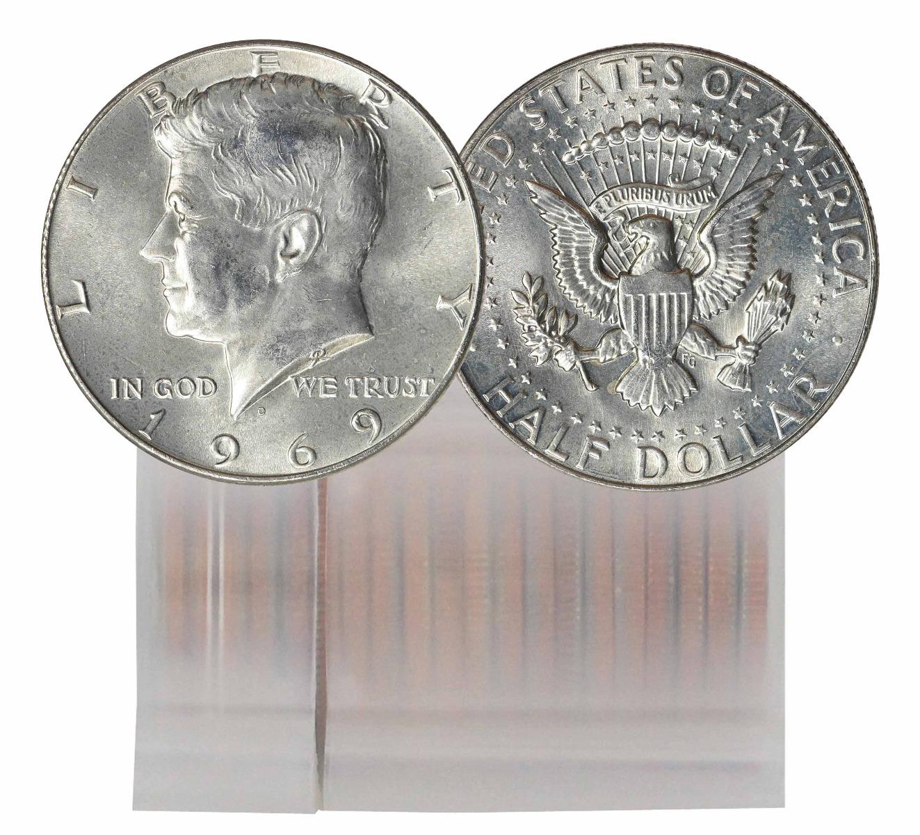 1969-D Silver Clad BU Kennedy Half Dollar 20 Coin Roll